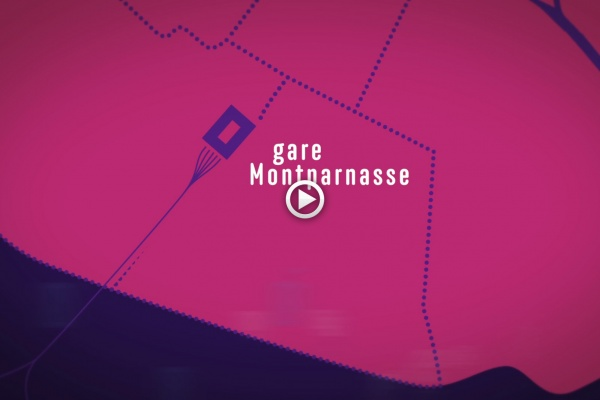 Kaupunki - Restructuration de la gare Montparnasse, Paris (animation) - 2014